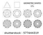 sacred geometry. set of... | Shutterstock .eps vector #577644319