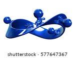 blue 3d characters running... | Shutterstock . vector #577647367