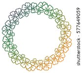 gradient color round frame with ... | Shutterstock . vector #577649059