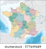map of french republic | Shutterstock .eps vector #577649689