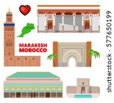 morocco marakesh travel set... | Shutterstock .eps vector #577650199