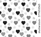 black and grey seamless pattern ... | Shutterstock .eps vector #577653565
