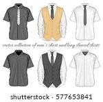formal shirts  button down... | Shutterstock .eps vector #577653841