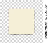 light yellow sticky note... | Shutterstock .eps vector #577653859