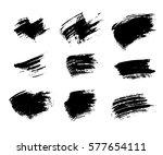 grunge brushes texture white... | Shutterstock . vector #577654111
