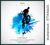 bmx freestyle. sport background | Shutterstock .eps vector #577656631