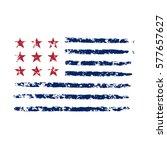 american flag grunge  symbol... | Shutterstock . vector #577657627