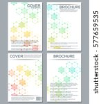set of business templates for... | Shutterstock .eps vector #577659535