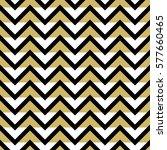 black white and gold chevron... | Shutterstock .eps vector #577660465