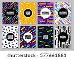 big set of chaotic geometry... | Shutterstock .eps vector #577661881