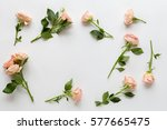 Flower Pattern On White...