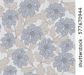 vintage floral seamless pattern | Shutterstock .eps vector #577670944