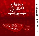valentines day background with... | Shutterstock .eps vector #577672519