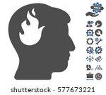 brain fire icon with bonus... | Shutterstock .eps vector #577673221