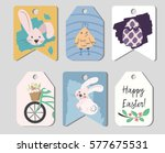 Easter Tags Set. 6 Six Tags...