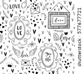 vector fashion seamless pattern ... | Shutterstock .eps vector #577677721