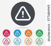 warning icon. attention... | Shutterstock .eps vector #577684945