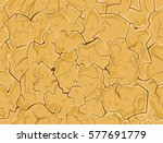 dry cracked ground. drought... | Shutterstock .eps vector #577691779