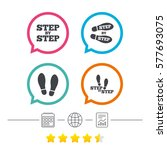 step by step icons. footprint... | Shutterstock .eps vector #577693075