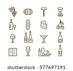 wine icons set. procurement and ... | Shutterstock .eps vector #577697191