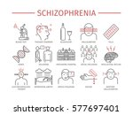 schizophrenia. symptoms ...   Shutterstock .eps vector #577697401