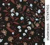 floral seamless pattern.... | Shutterstock .eps vector #577697431