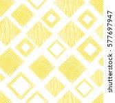 seamless vector geometrical... | Shutterstock .eps vector #577697947