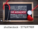 pain management general health... | Shutterstock . vector #577697989