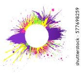 bright and colorful banner with ... | Shutterstock .eps vector #577698259