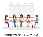 group of working people  young... | Shutterstock .eps vector #577698865