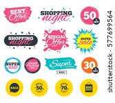 sale shopping banners. special... | Shutterstock .eps vector #577699564