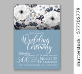 anemone wedding invitation card ... | Shutterstock .eps vector #577703779