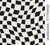 seamless geometric checkered... | Shutterstock .eps vector #577705435