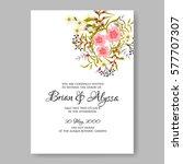 anemone wedding invitation card ... | Shutterstock .eps vector #577707307