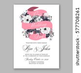 anemone wedding invitation card ... | Shutterstock .eps vector #577708261