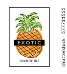 exotic t shirt graphics slogan... | Shutterstock .eps vector #577711525