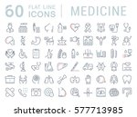 set vector line icons  sign in... | Shutterstock .eps vector #577713985
