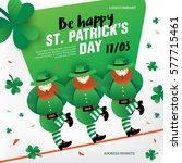 background for st. patrick's...   Shutterstock .eps vector #577715461