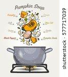 vector pumpkin soup ingredients ...   Shutterstock .eps vector #577717039