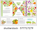 set of posters and flyers fresh ... | Shutterstock .eps vector #577717279