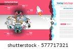 startup landing webpage or... | Shutterstock .eps vector #577717321
