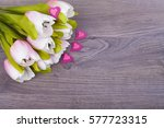 Beautiful Tulips And Hearts  O...