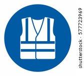 mandatory action sign  wear... | Shutterstock .eps vector #577723969