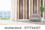modern bright interior . 3d... | Shutterstock . vector #577726327