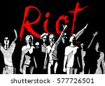 vector illustration of a crowd... | Shutterstock .eps vector #577726501