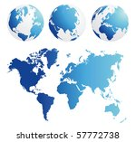 map and globe kit blue | Shutterstock .eps vector #57772738
