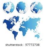 map and globe kit blue | Shutterstock .eps vector #57772738