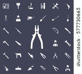 pliers icon. construction icons ... | Shutterstock .eps vector #577730665