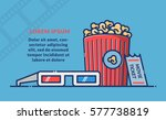 cinema movie poster template.... | Shutterstock .eps vector #577738819