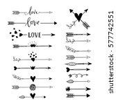 handdrawn arrows  borders set... | Shutterstock .eps vector #577742551